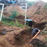 Монтаж пластиковой емкости для канализации